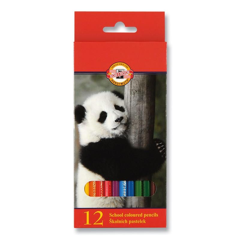Набор карандашей цветных KOH-I-NOOR ЖИВОТНЫЕ 12 цветов<br>