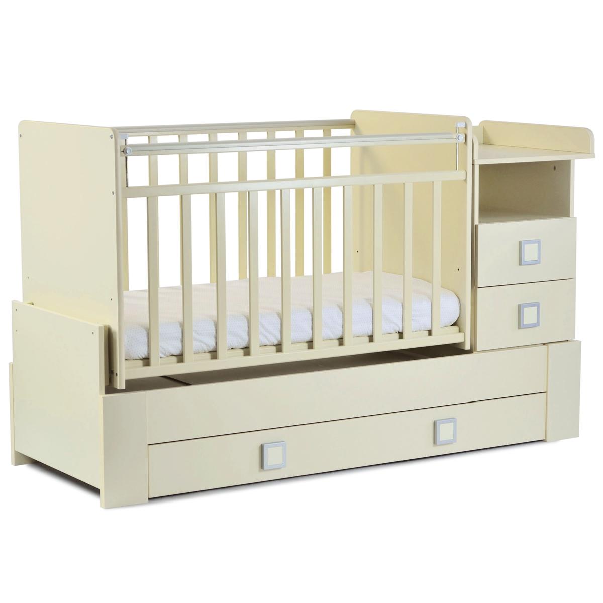 Кроватка-трансформер СКВ компани 83003 Белая<br>