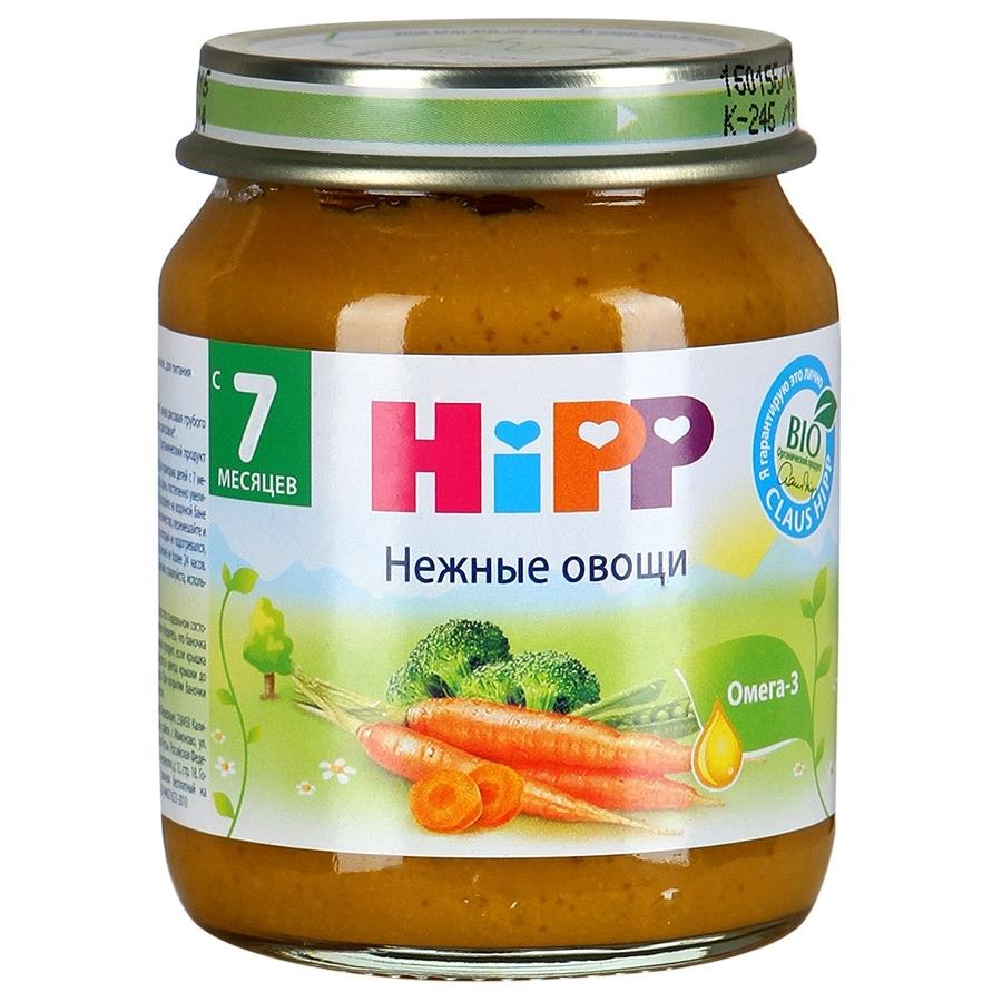 Пюре Hipp овощное 125 гр Нежные овощи (с 7 мес)
