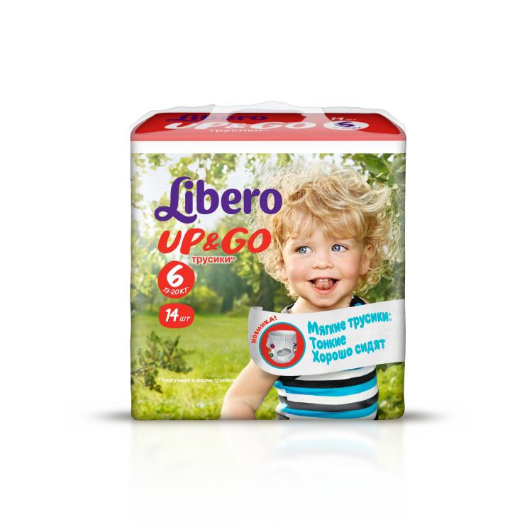 Трусики Libero Up & Go Extra Large 13-20 кг (14 шт) Размер 6