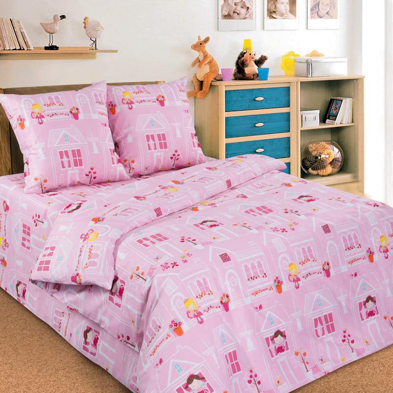 Комплект постельного белья детский Letto с наволочкой 50х70 Домик принцессы<br>