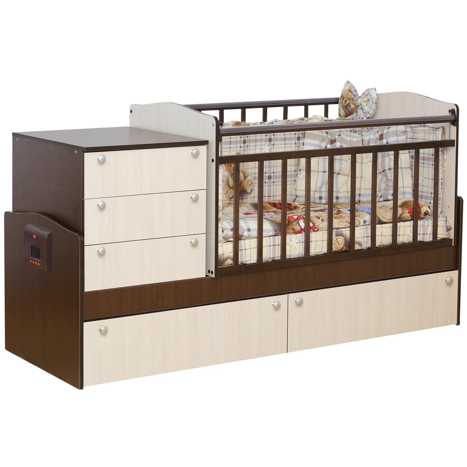 Кроватка-трансформер Daka Baby Укачай-ка 05 с механизмом Комбинированный<br>