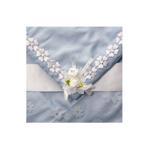 """Одеяло-конверт на выписку Арго """"Незабудка"""": 3 предмета, 90*90 см Голубой"""