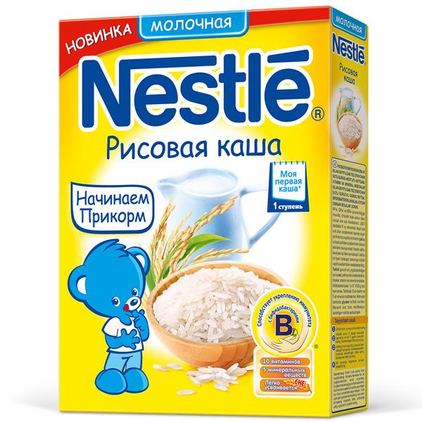 Каша Nestle молочная 250 гр Рисовая (1 ступень)<br>