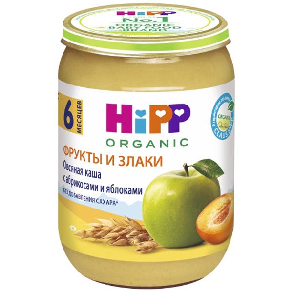 Каша Hipp зерновая с фруктами 190 гр Овсяная с абрикосами и яблоками (с 6 мес)<br>