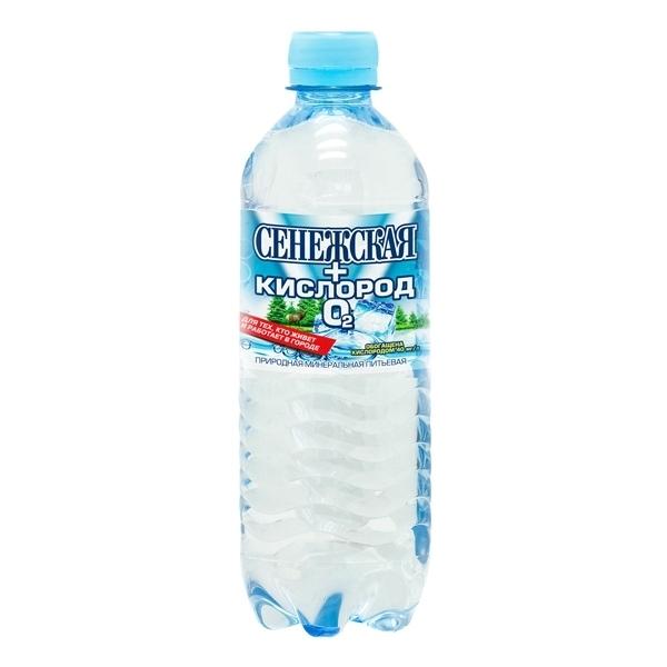 Вода Сенежская+Кислород Негазированная 0,5 л (пластик)<br>