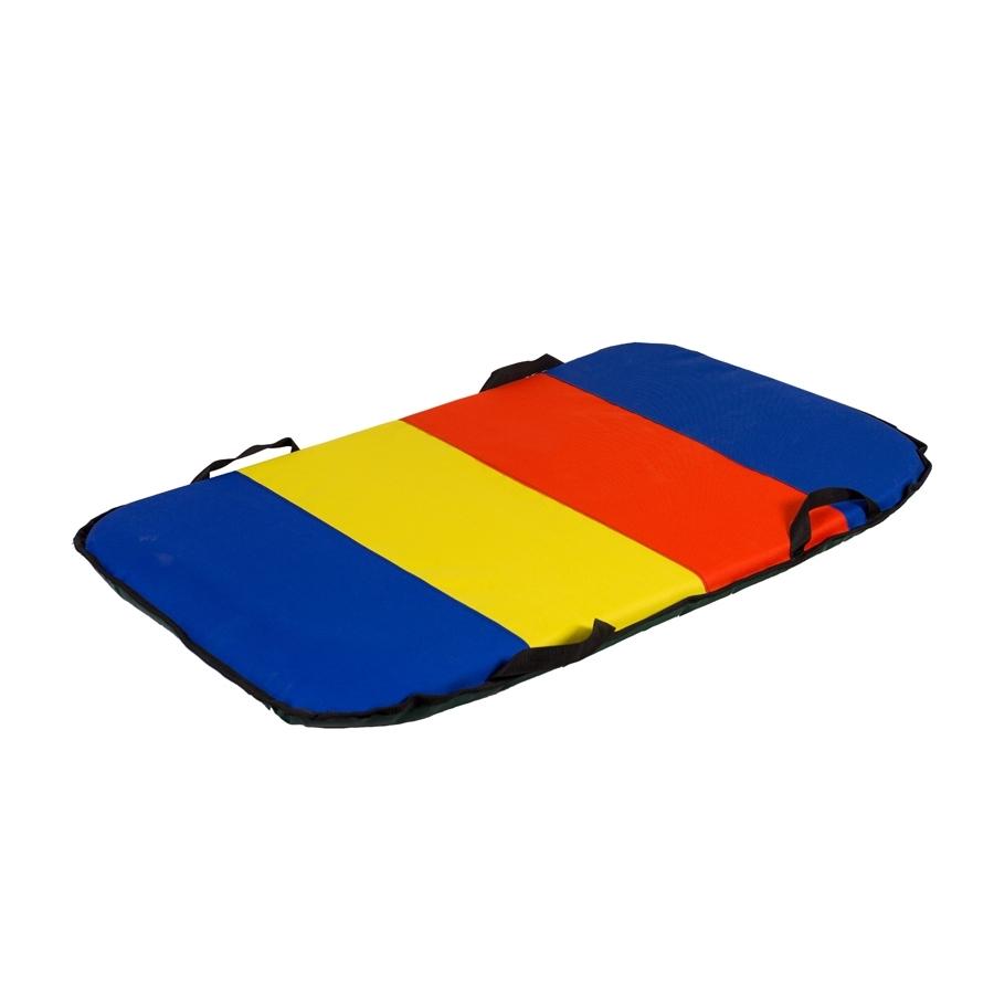 Санки-айсбот Метиз двухместные Синие с красным и желтым<br>