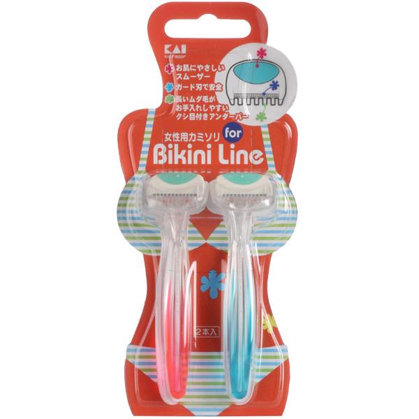 Бритва женская KAI одноразовая RAZOR Bikini Line (1-лезвие) для зоны бикини 2 шт<br>