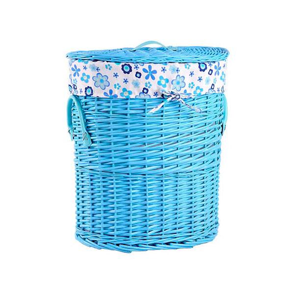 Корзина для белья Natural Hause голубая