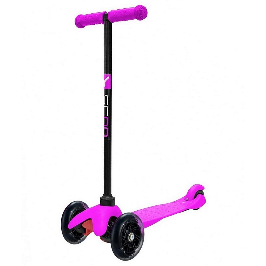 Самокат Y-SCOO mini A-5 Shine со светящими колесами Pink<br>