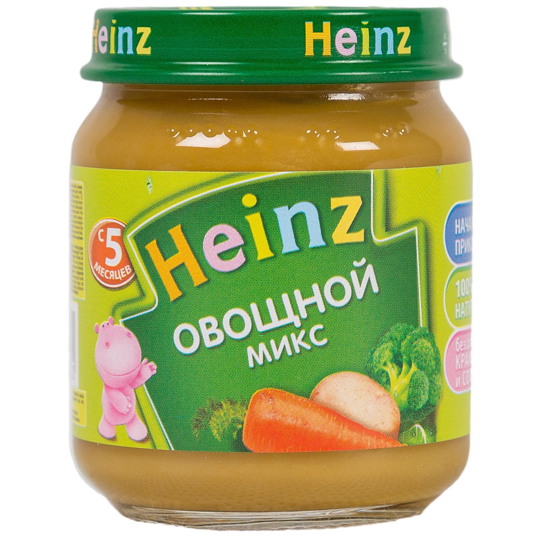 Пюре Heinz овощное 120 гр Овощной микс (с 5 мес)<br>