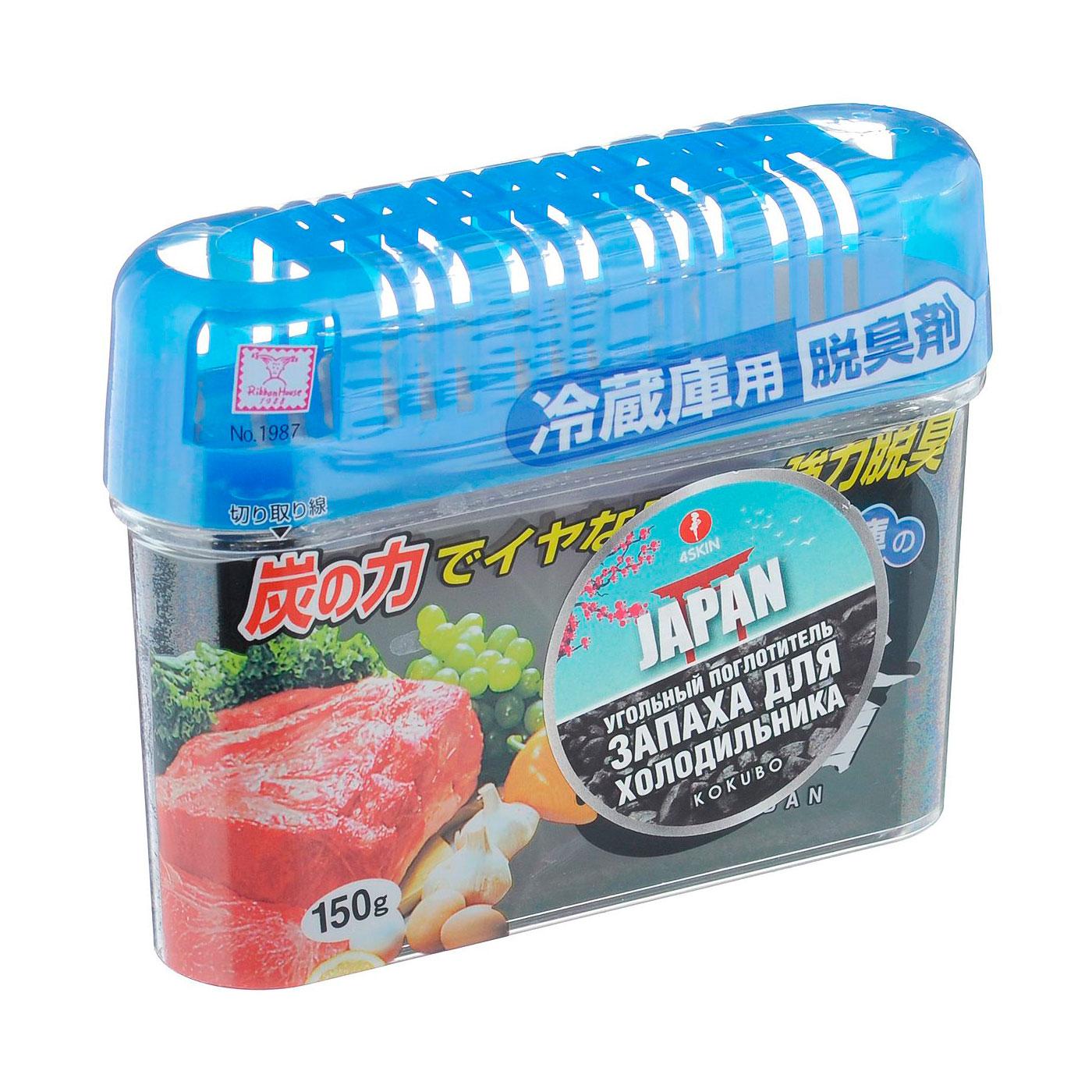 Угольный поглотитель запаха Kokubo для холодильника (сырого мяса, сильно пахнущих продуктов)