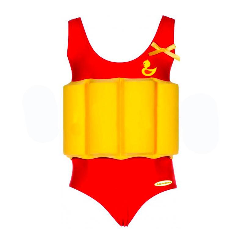 Купальный костюм для девочки Baby Swimmer Уточка красный рост 104<br>