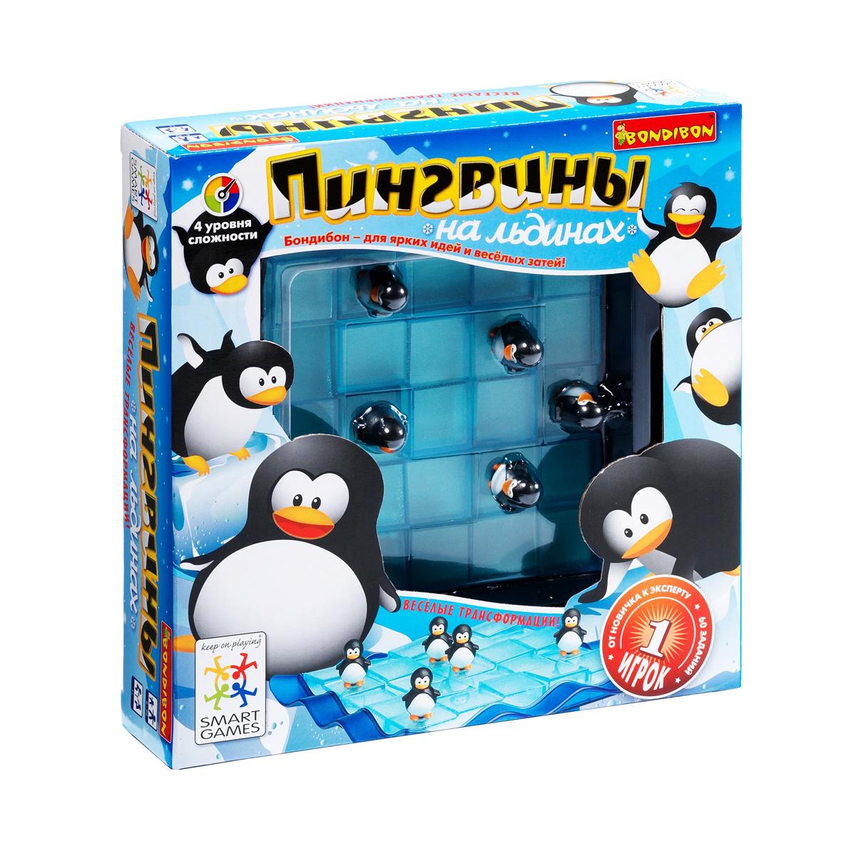 Логические игры Bondibon Пингвины на льдинах<br>