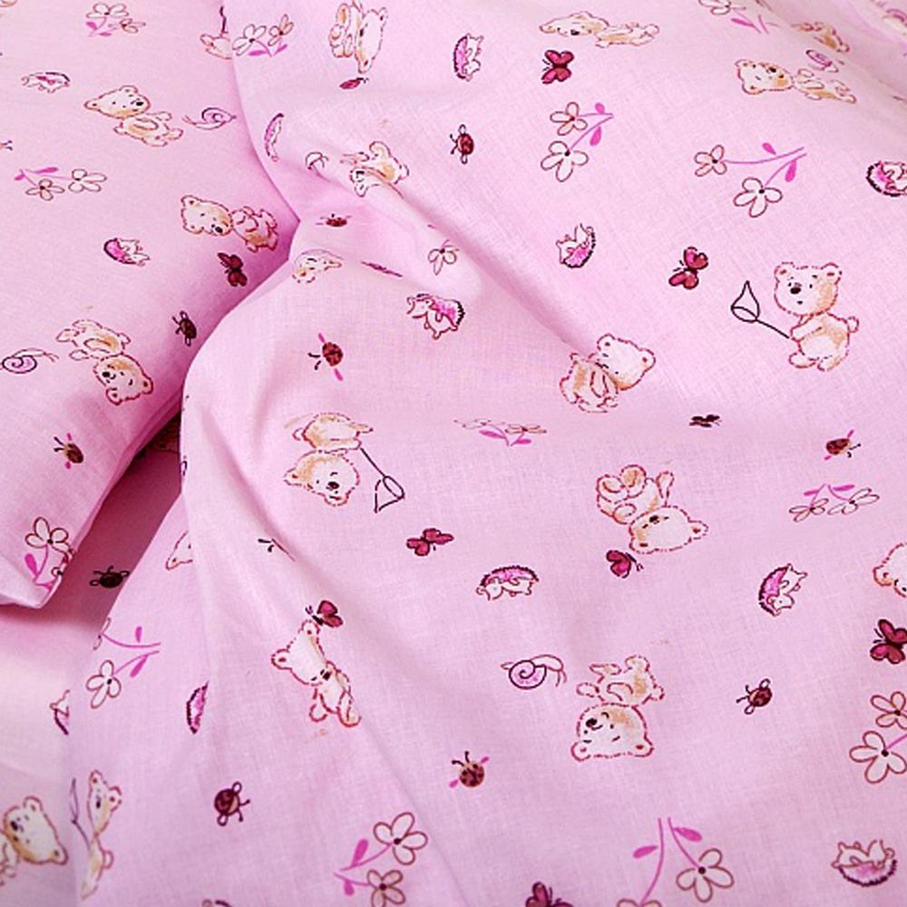 Комплект постельного белья  Споки Ноки бязь100% хлопок Мишки (розовый, голубой)