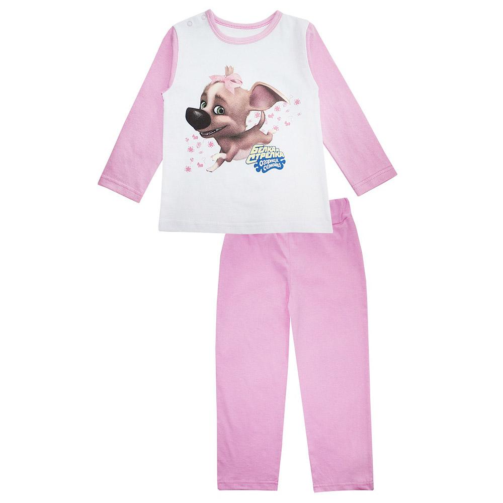 Пижама Котмаркот Озорная семейка-Белка и Стрелка (Дина) рост 92 розовый<br>