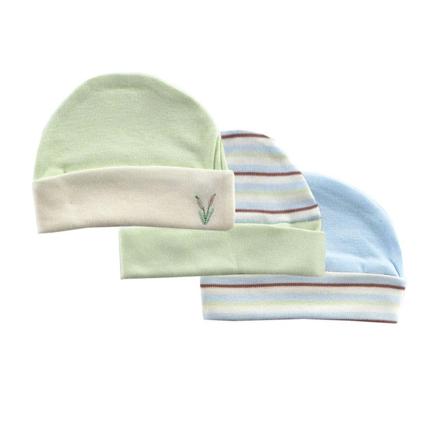 Комплект Hudson Baby Шапочки, 3 шт., цвет голубой 0-6 мес. (55-67 см)