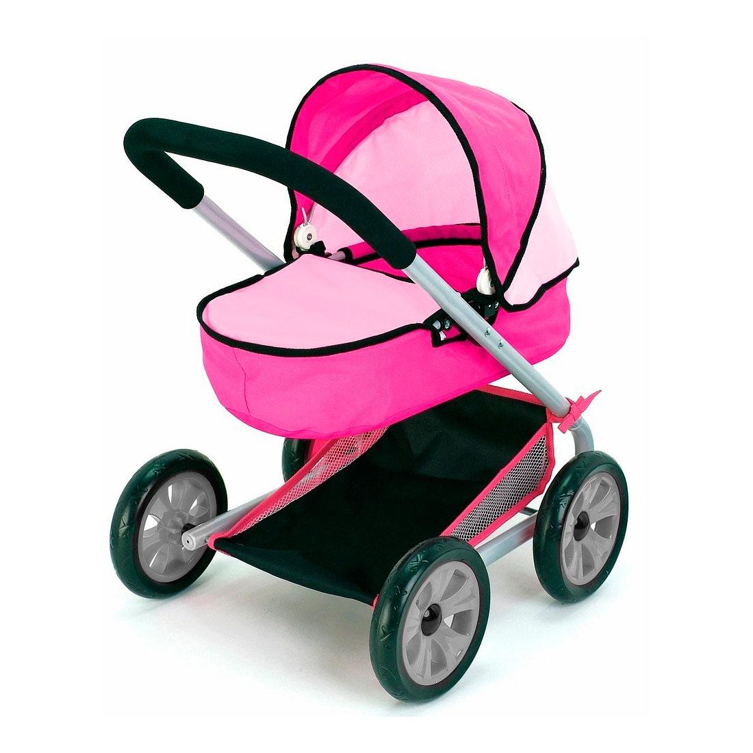 Кукольная коляска RT 639 Фуксия и розовый<br>
