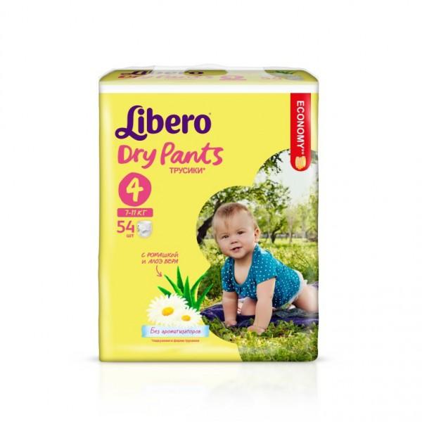 Трусики Libero Dry Pants Maxi 7-11кг (54 шт) Размер 4<br>