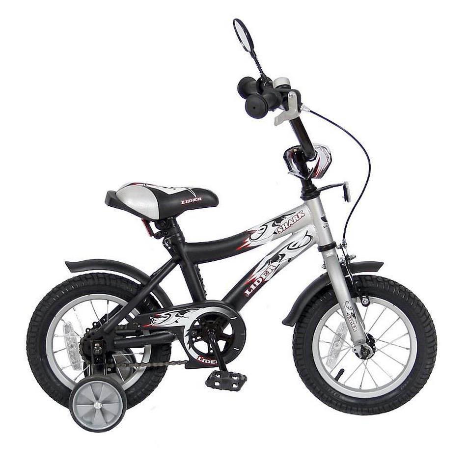 Велосипед двухколесный Velolider 12 Lider Shark 12A-1287 Серый/Черный<br>