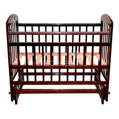 Кроватка Briciola 9 с продольным маятником Темная