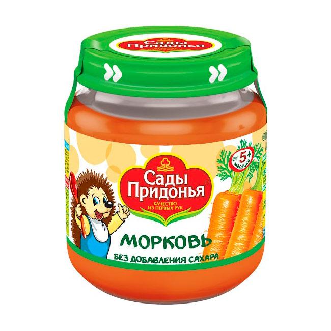 Пюре Сады Придонья овощное 120 гр Морковное (с 5 мес)<br>