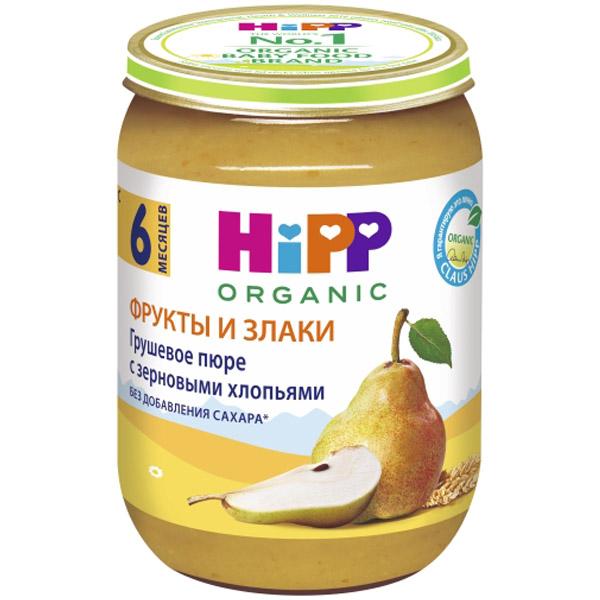 Каша Hipp зерновая с фруктами 190 гр Груша с зерновыми хлопьями (с 4 мес)<br>