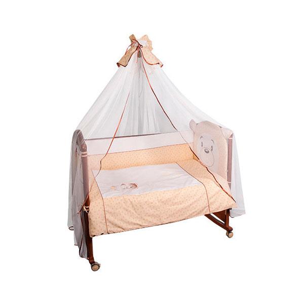 Комплект в кроватку Сонный гномик Умка 7 предметов Бежевый<br>
