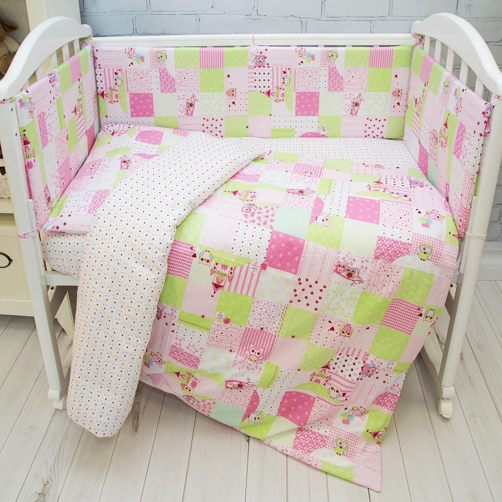 Комплект постельного белья  Споки Ноки бязь100% хлопок Совы Розовый<br>