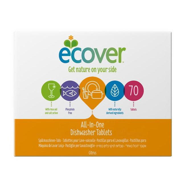 Таблетки Ecover 1400 гр. Для посудомоечной машины 3 в 1<br>