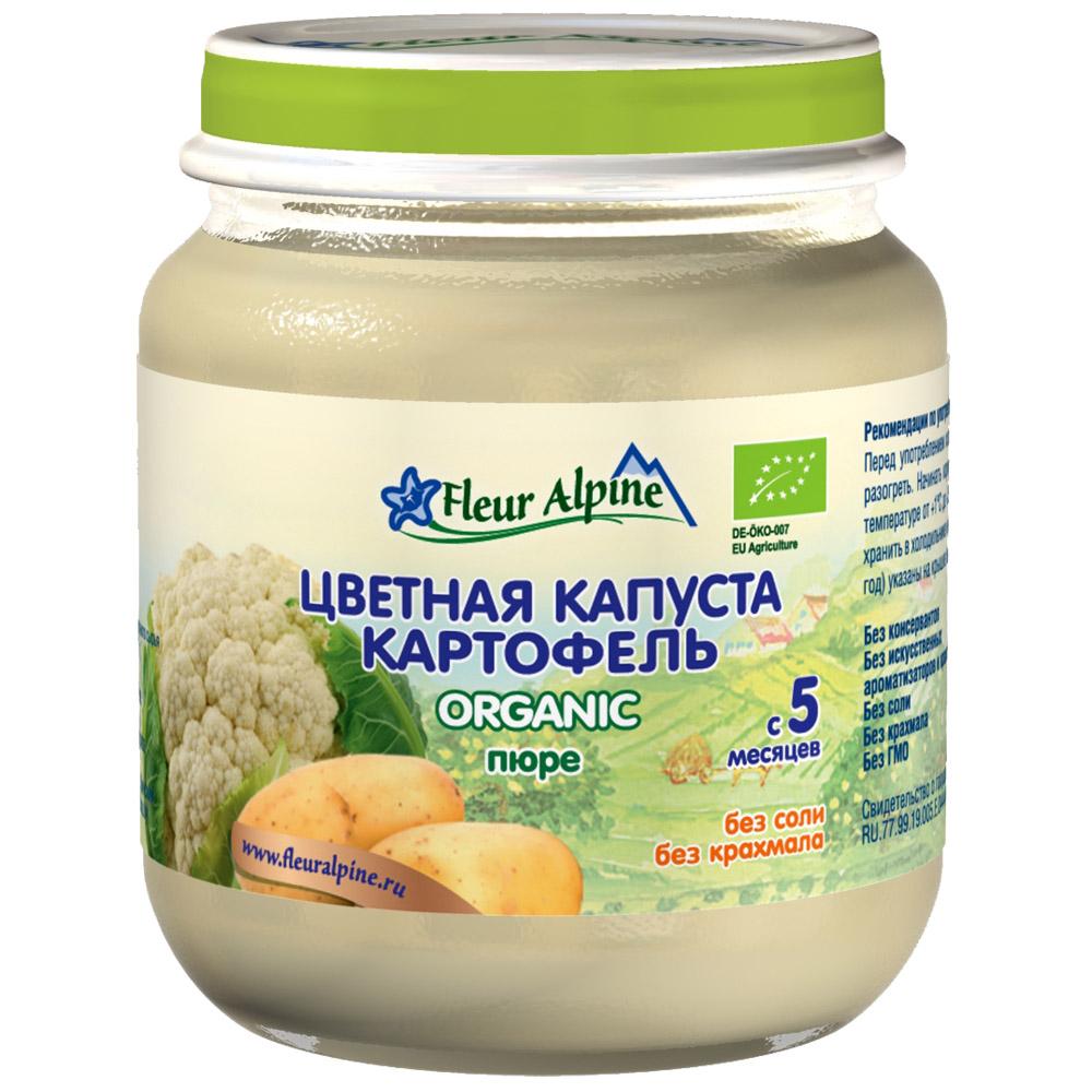 Пюре Fleur Alpine овощное 125 гр Цветная капуста с картофелем (с 5 мес)<br>