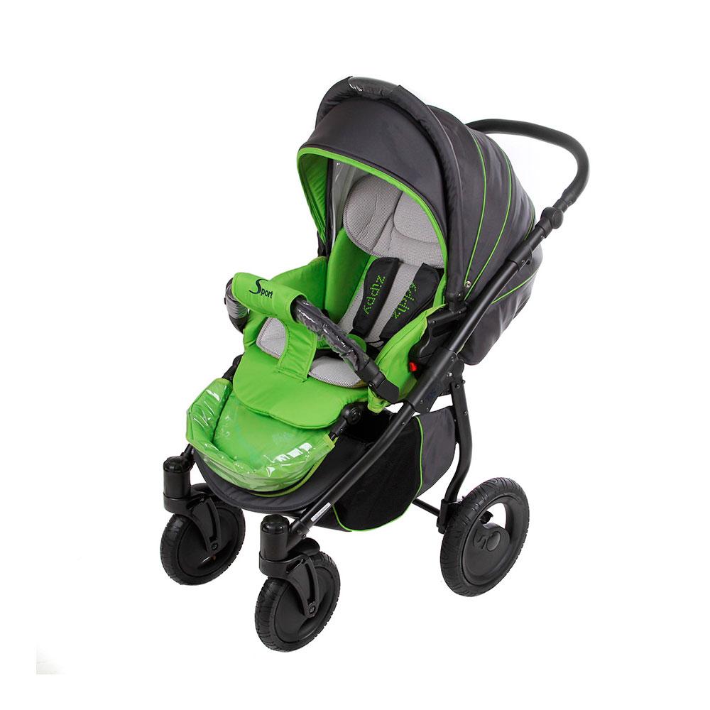 Коляска прогулочная Tutis Zippy Sport Plus Серая с зеленым<br>