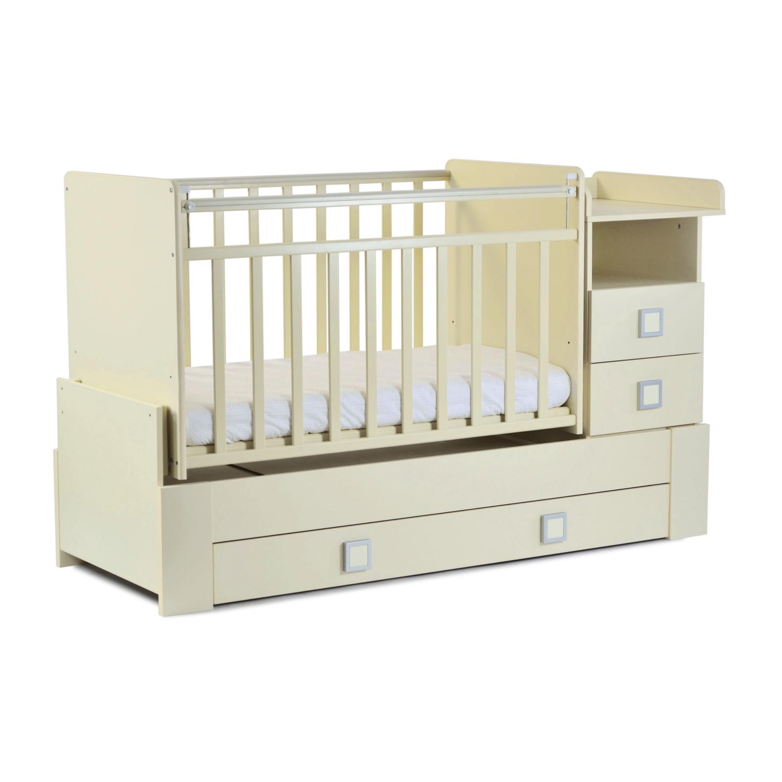 Кроватка-трансформер СКВ компани 83003 Бежевая<br>