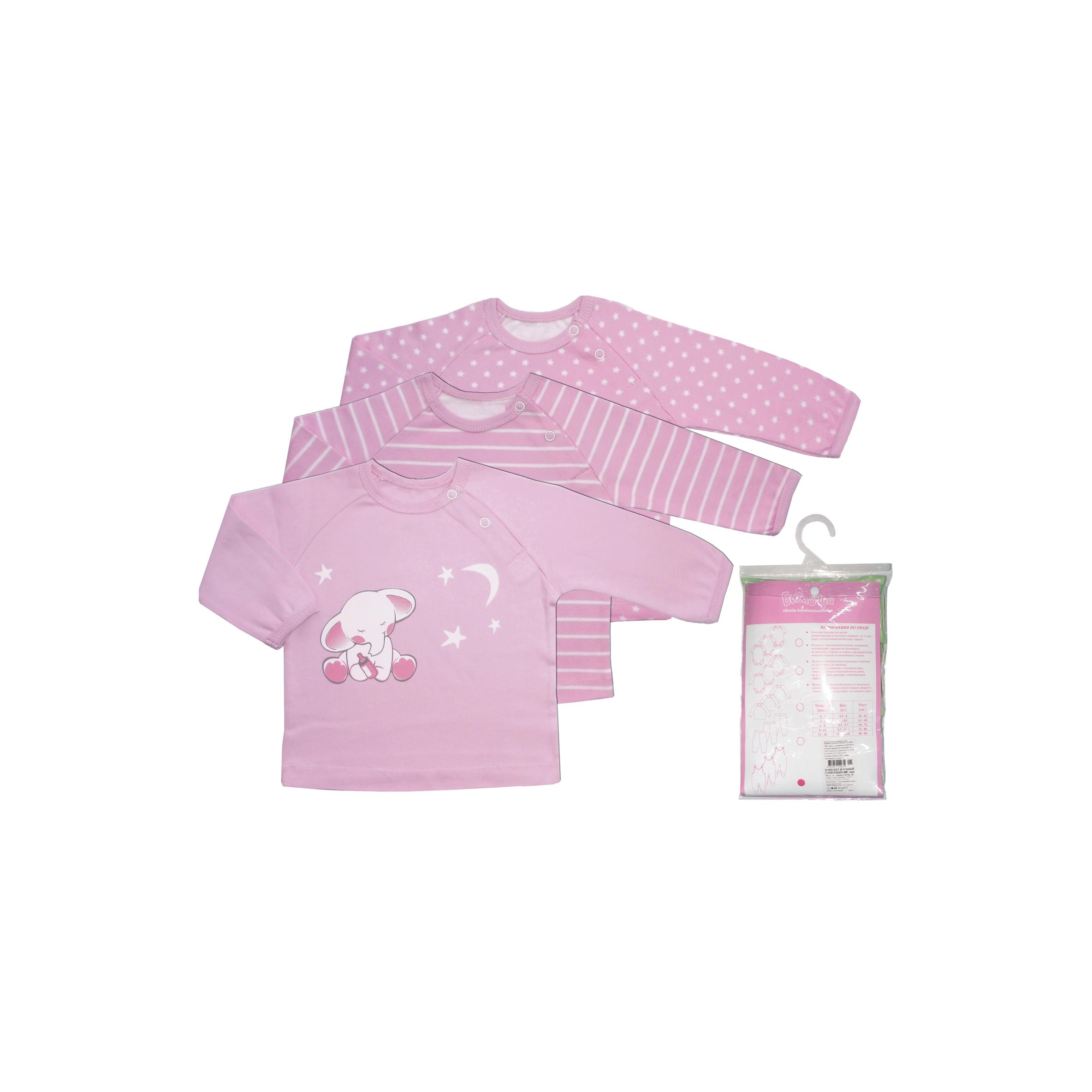 Комплект ясельный Бимоша: кофточки. цвет розовый 6-9 мес.