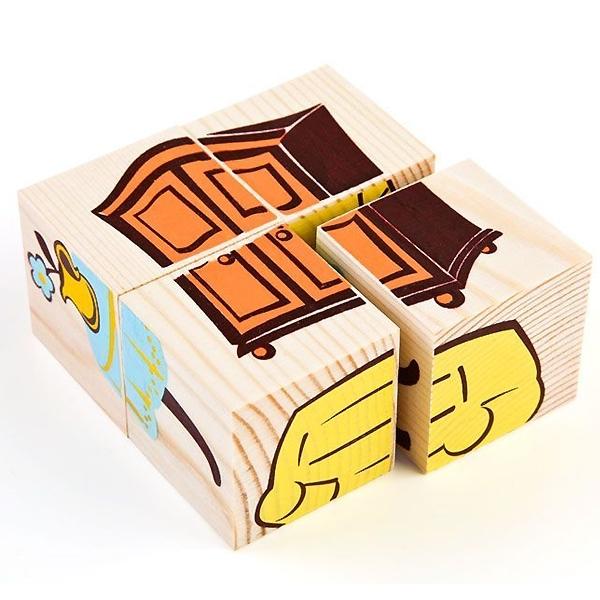 Кубики Томик Мебель (4 кубика)<br>