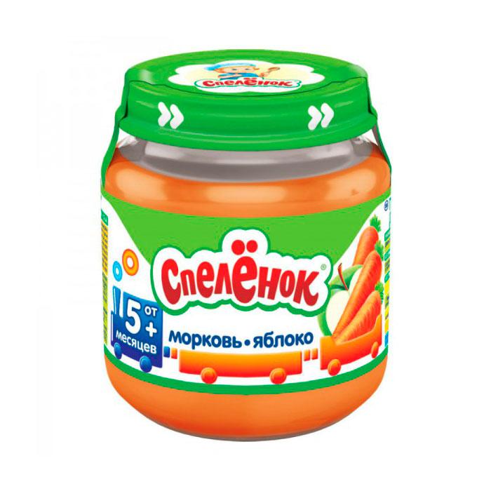 Пюре Спеленок овощное 125 гр Морковь яблоко (с 5 мес)