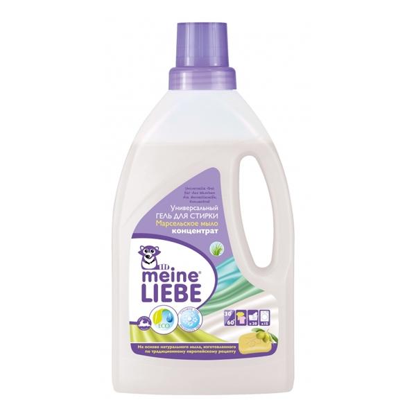Гель Meine Liebe для стирки 800 мл. (концентрат) универсальный Марсельское мыло<br>