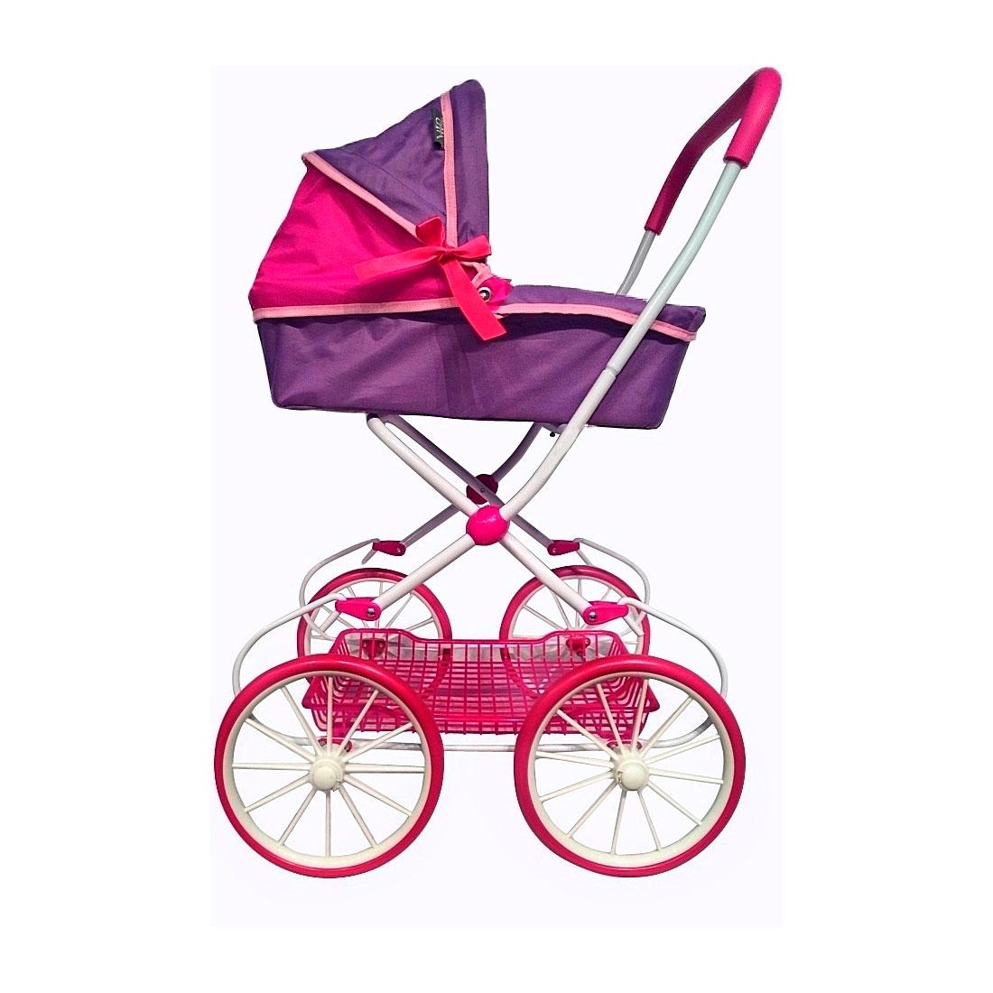 Кукольная коляска RT 603 Фиолетовый и фуксия<br>