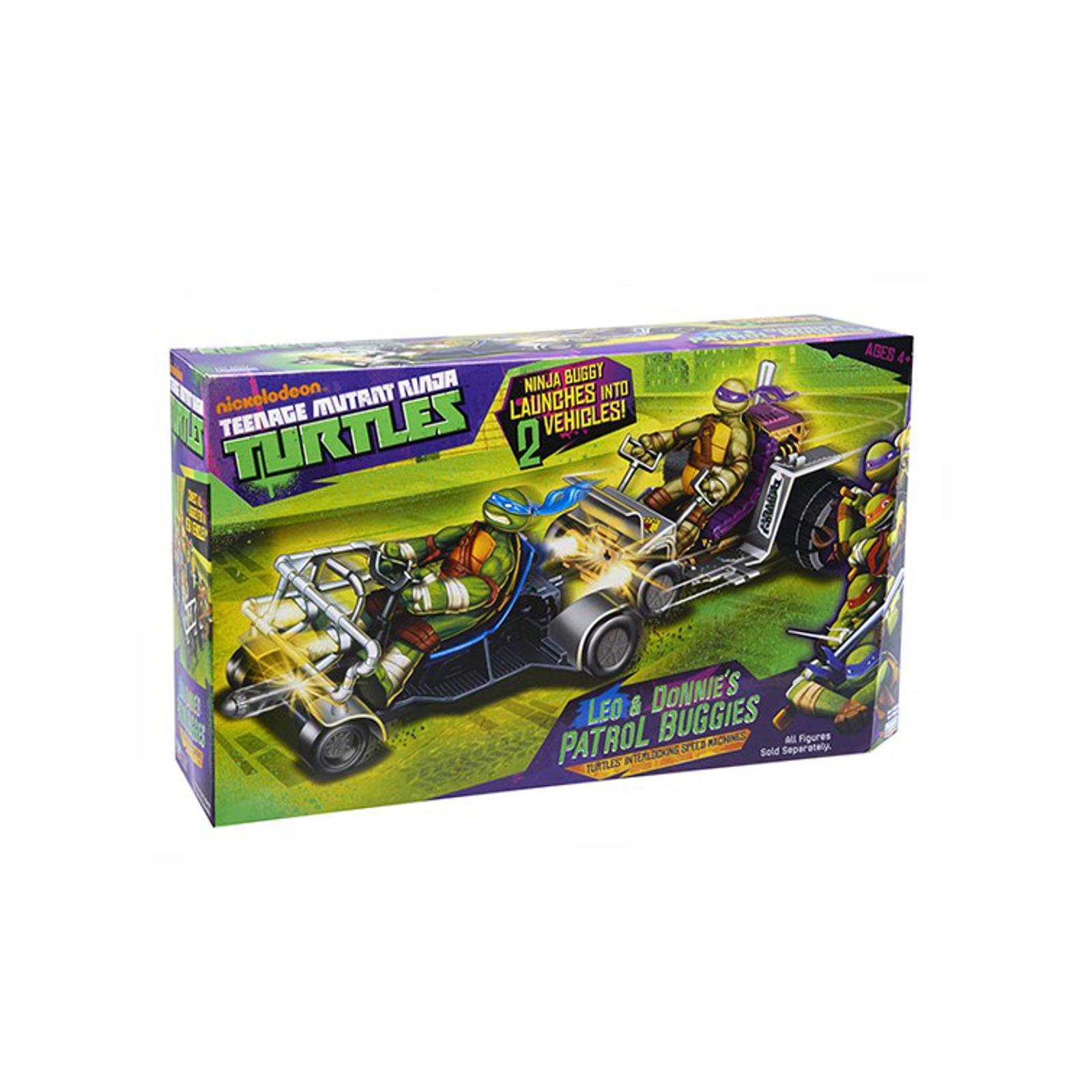 Игровые наборы Playmates Черепашки Ниндзя Патрульные Багги (Лео и Дон)