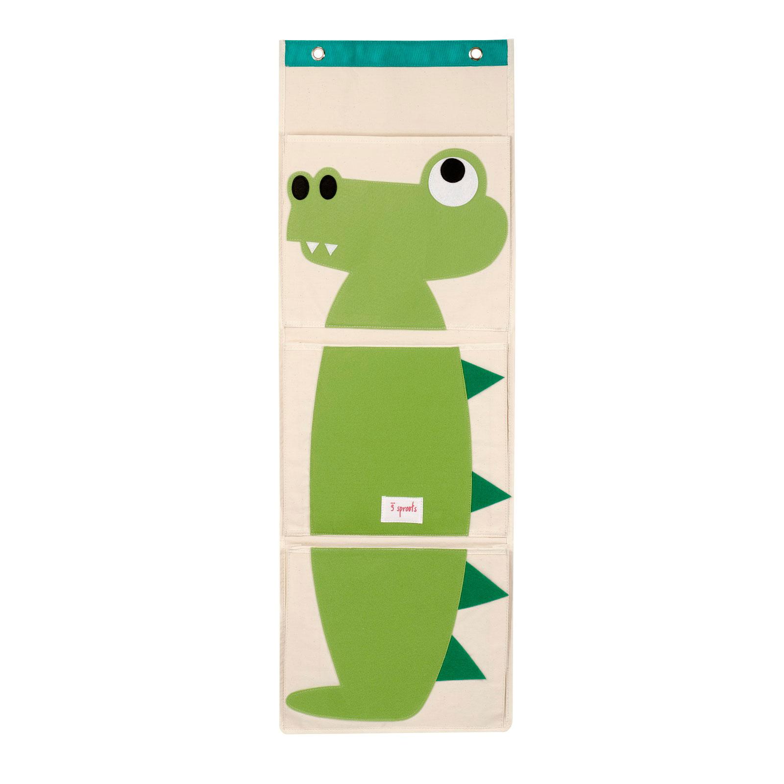 Органайзер на стену 3 Sprouts Крокодил (Green Crocodile) Арт. 67401<br>