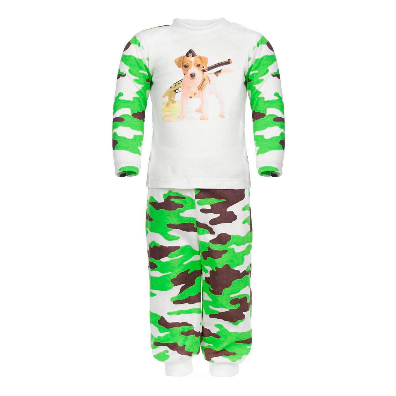 Пижама Котмаркот Милитари рост 86 зеленый<br>