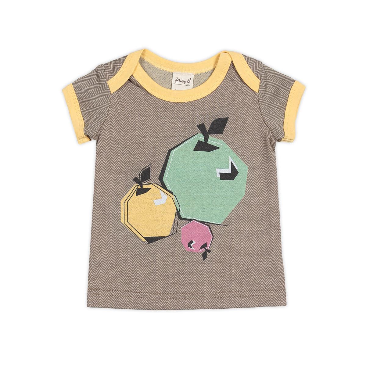 Футболка Ёмаё Кони в яблоках (27-216) рост 86 набивка с желтым<br>