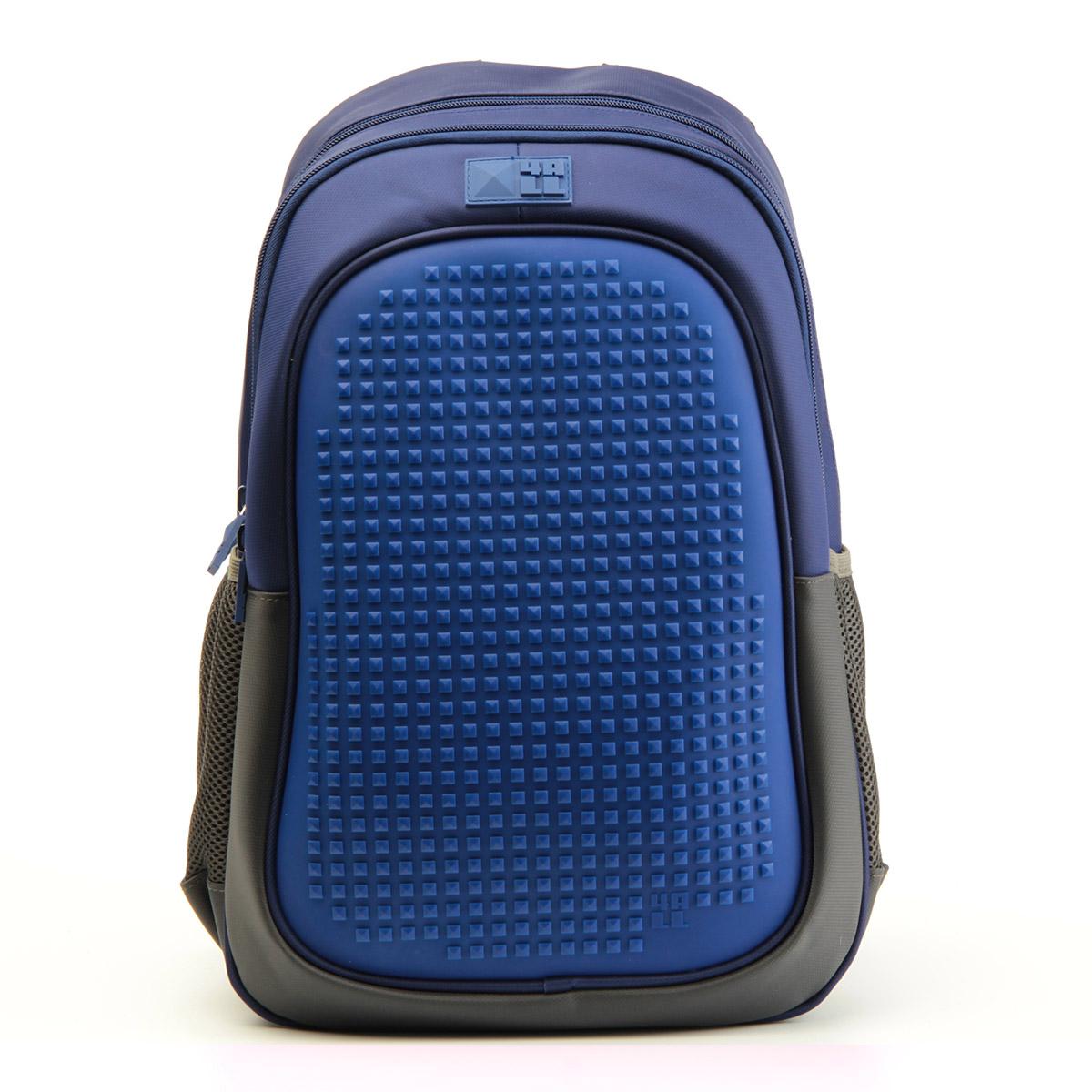 Рюкзак подростковый 4All Case Граффити Темно-синий + Пиксели<br>