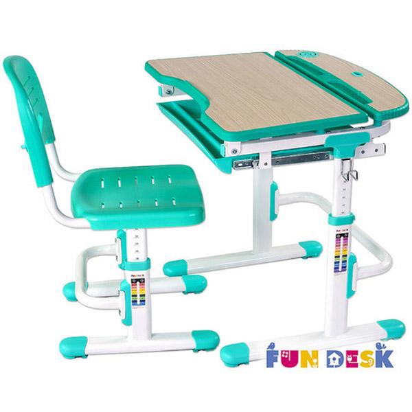 Набор мебели FunDesk Sorriso парта и стул Green<br>