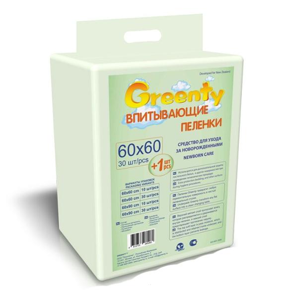 Пеленки Greenty 60х90 см (30 шт)<br>