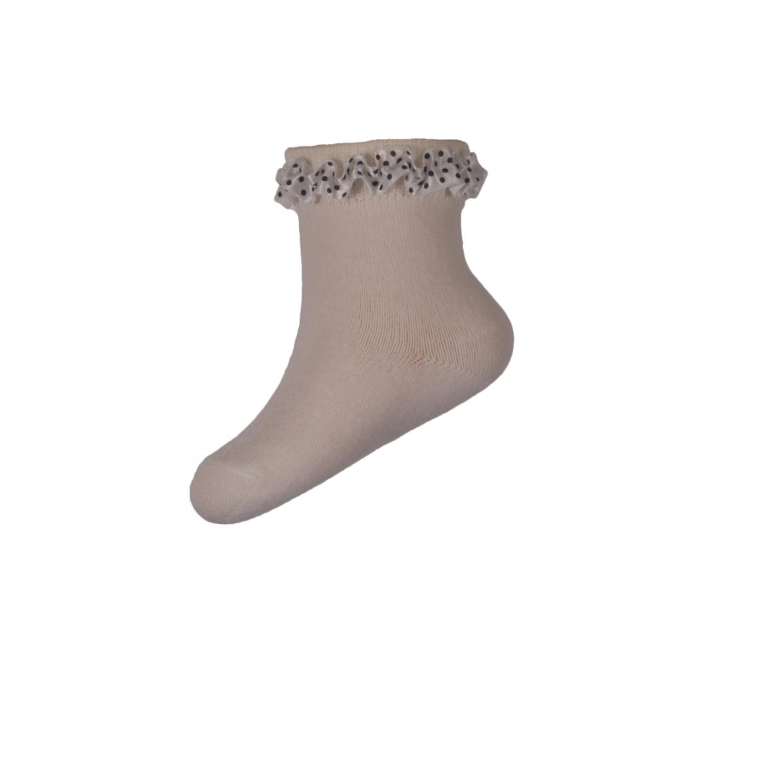 Носки Milusie модель 59 с кружевной лентой размер 11-12