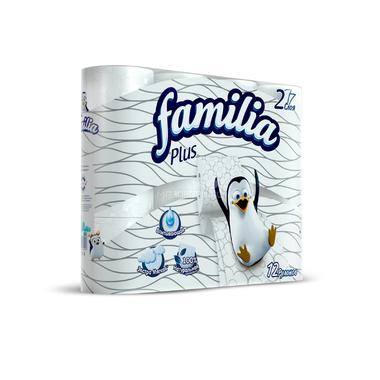 Туалетная бумага Familia Plus белая (2 слоя) 12 шт