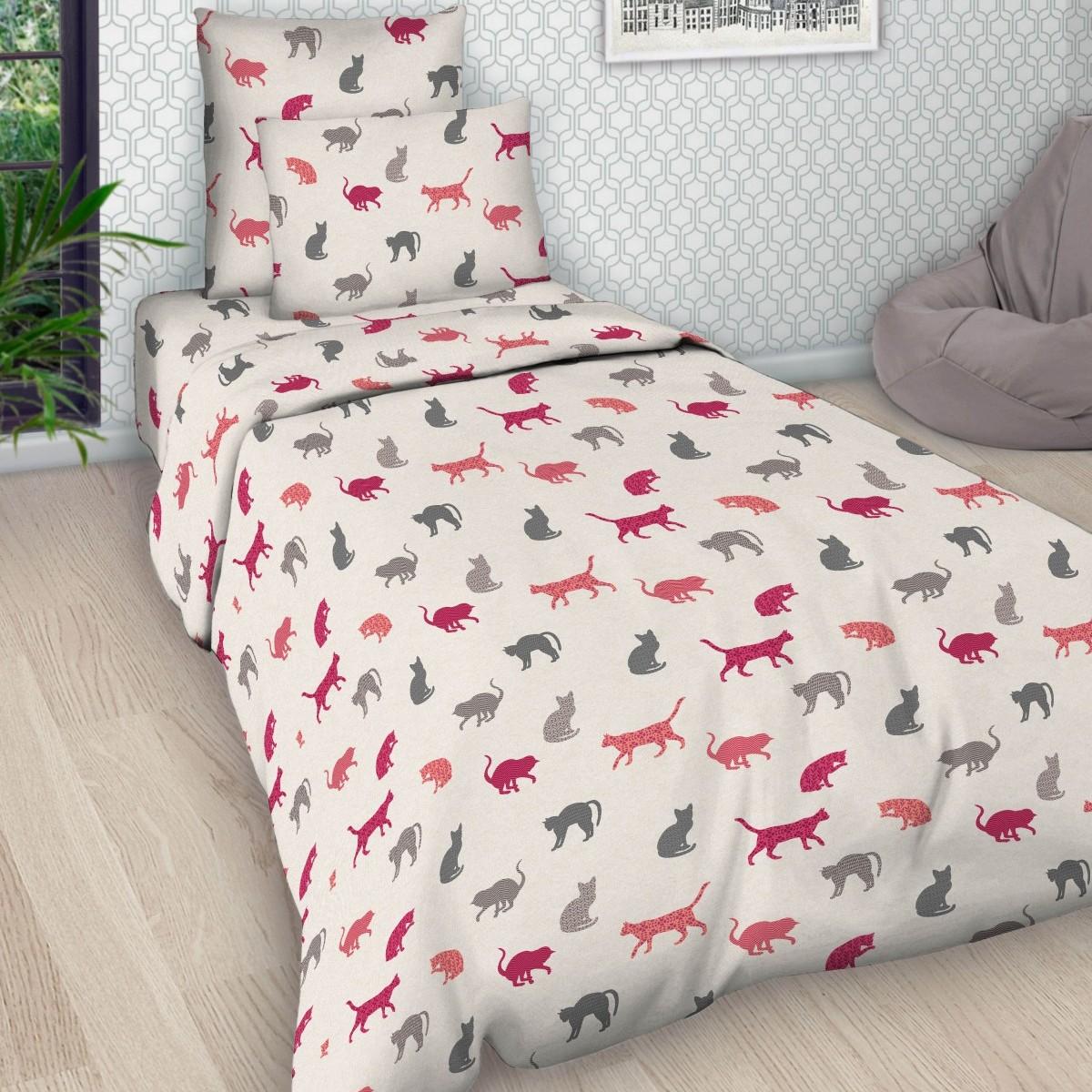 Комплект постельного белья детский Letto Кошки<br>