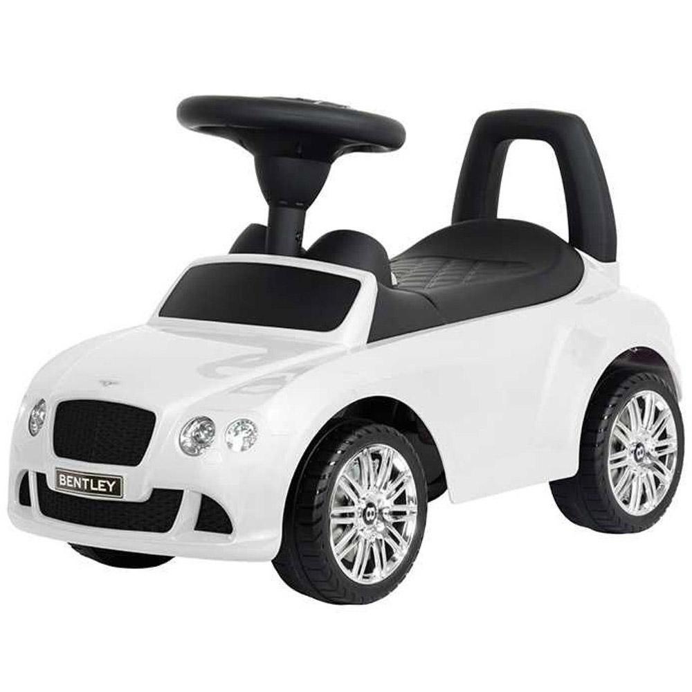 Каталка-автомобиль RT Bentley с музыкой Белая