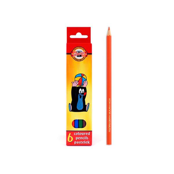 Набор карандашей цветных KOH-I-NOOR КРОТ 6 цветов<br>